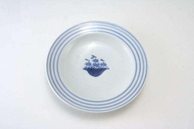 有田焼 青花 帆船プチケーキ皿