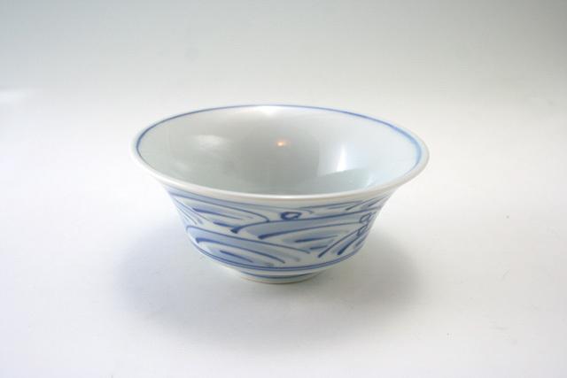 有田焼 青花 長崎紋反小鉢