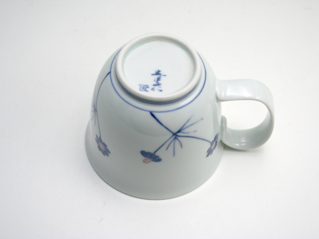 有田焼 青花匠 染錦野菊マグカップ