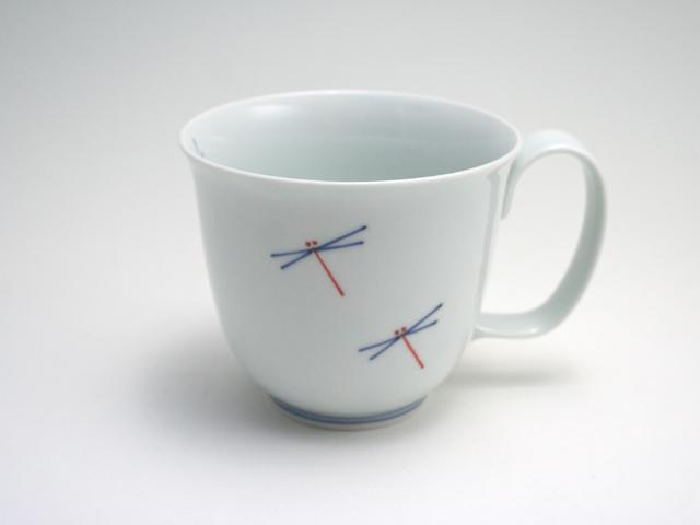 有田焼 青花匠×貞山窯 とんぼ反マグカップ