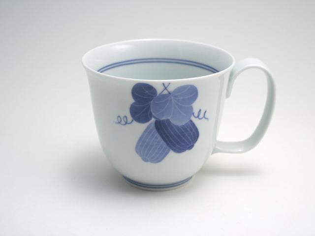 有田焼 青花匠×貞山窯 瓜文反マグカップ