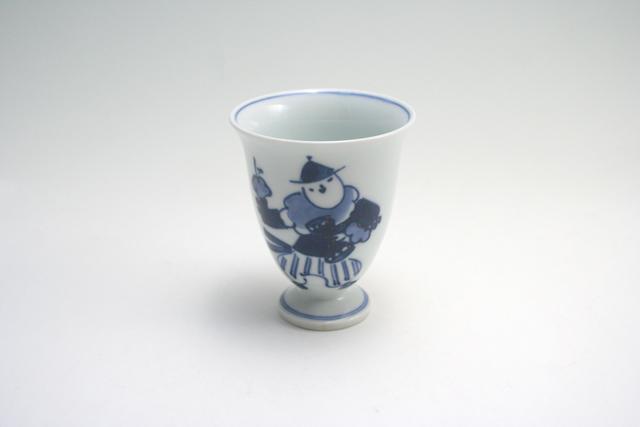 有田焼 青花 オランダ万才ワインカップ