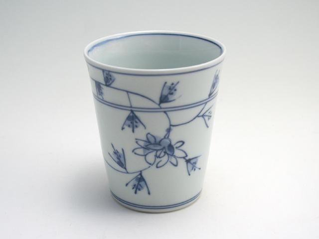 有田焼 青花 花唐草ミルクカップ