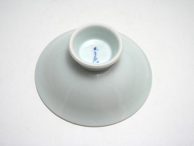 有田焼 青花 バラ絵アイスクリーム皿