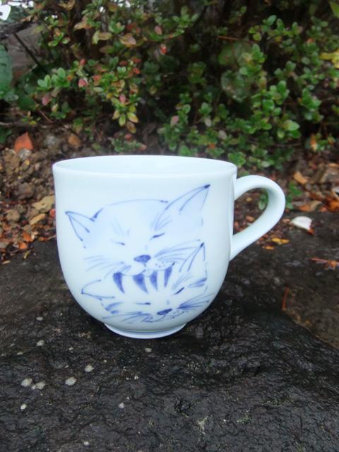 有田焼 青花 ラブラブミニマグカップ