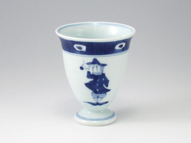 渕濃帆船ワインカップ しん窯 青花