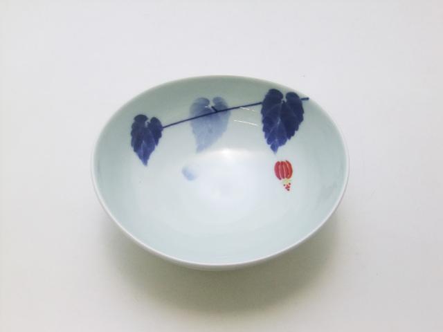 染錦アブチロン楕円鉢 青花 匠