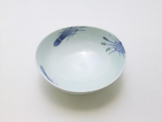 稲穂(緑)楕円鉢 青花 匠