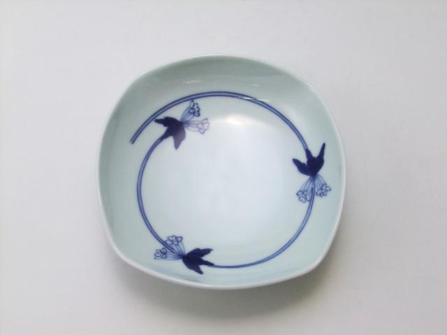 つるりんどう四角鉢(ミニ) 青花 匠