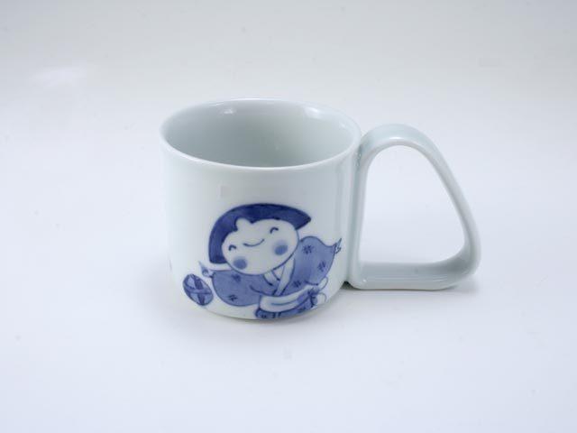 手まりうた倒れにくいマグカップ(小) しん窯 青花