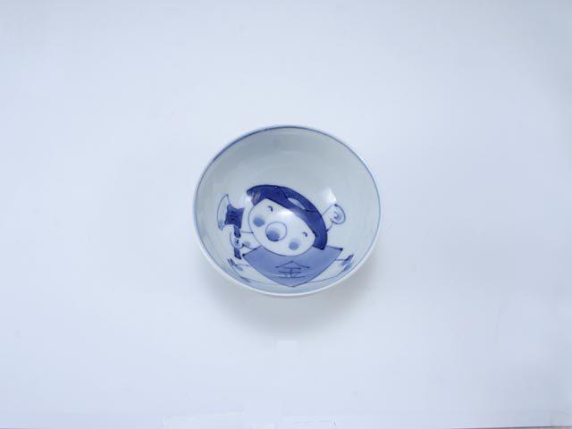 新金太郎3.2寸丸飯碗 しん窯 青花