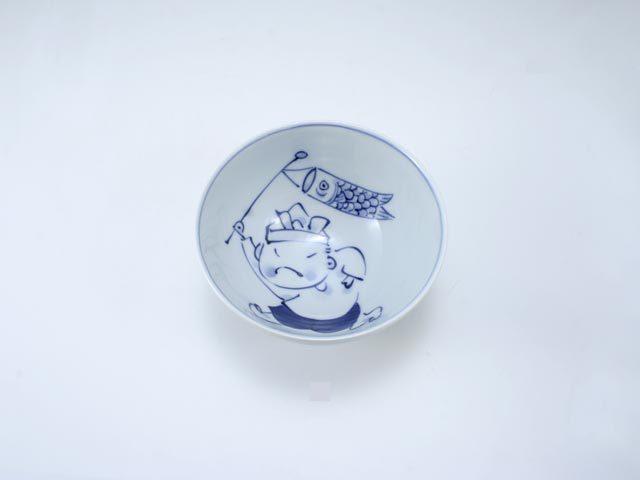 こいのぼり3.2寸丸飯碗 しん窯 青花