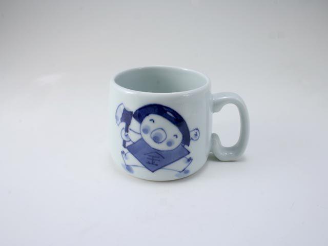 新金太郎子供用マグカップ しん窯 青花
