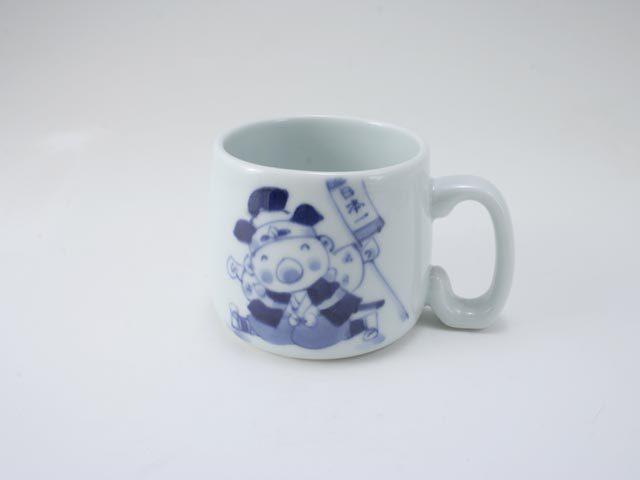 新桃太郎子供用マグカップ しん窯 青花