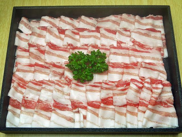鹿児島県産黒豚バラしゃぶしゃぶ用 約700g