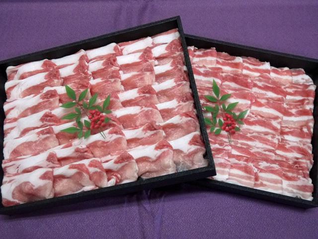 鹿児島県産黒豚しゃぶしゃぶロースバラセット 約1kg(送料込み)
