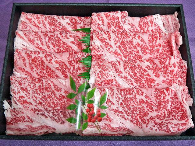 鹿児島県産黒毛和牛すき焼き用 約500g