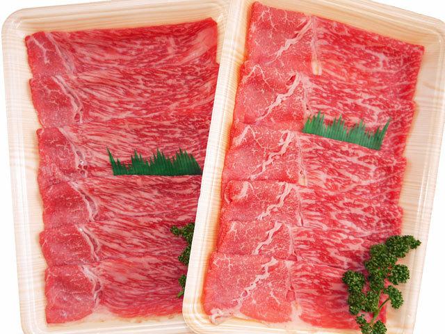 鹿児島県産黒毛和牛「特もも」スライス 約400g