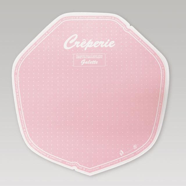 クレープ包装紙【デリシャス(変形)】 ピンク  3,000枚 @3.6円