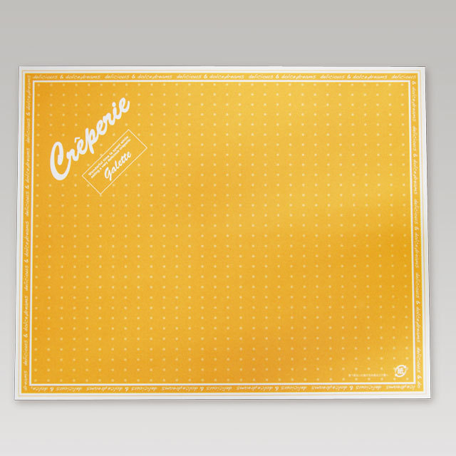 クレープ包装紙【ドリームズ(四角S)】オレンジ  3,000枚 @3.6円