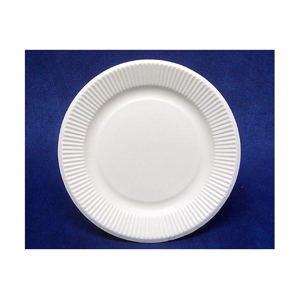 耐水耐油紙皿ホワイト