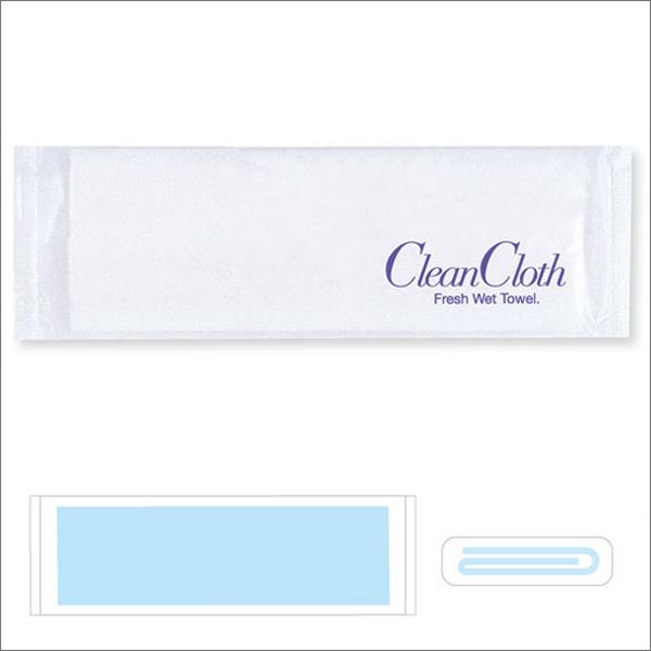 紙おしぼり クリーンクロス180[平型] 1,500本入 @2.58円