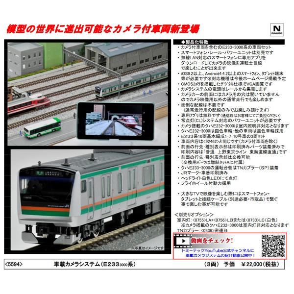 車載カメラシステム(E233系3000番台 3両セット)