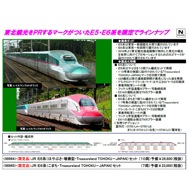 E5系/E6系(Treasureland TOHOKU-JAPAN)