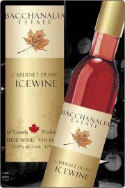 【超地産地消ワイン】     <2本以上で送料無料> カナダ産・赤アイスワイン カベルネフラン2008年産 ★専用化粧箱付