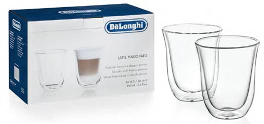 デロンギ ダブルウォールグラス(2個セット) ラテマキアート [商品コード:DWG2S-220]