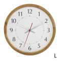 La Luz (ラ・ルース)ラウンドクロック★木製 木 時計 クロック インテリア kijihiki★