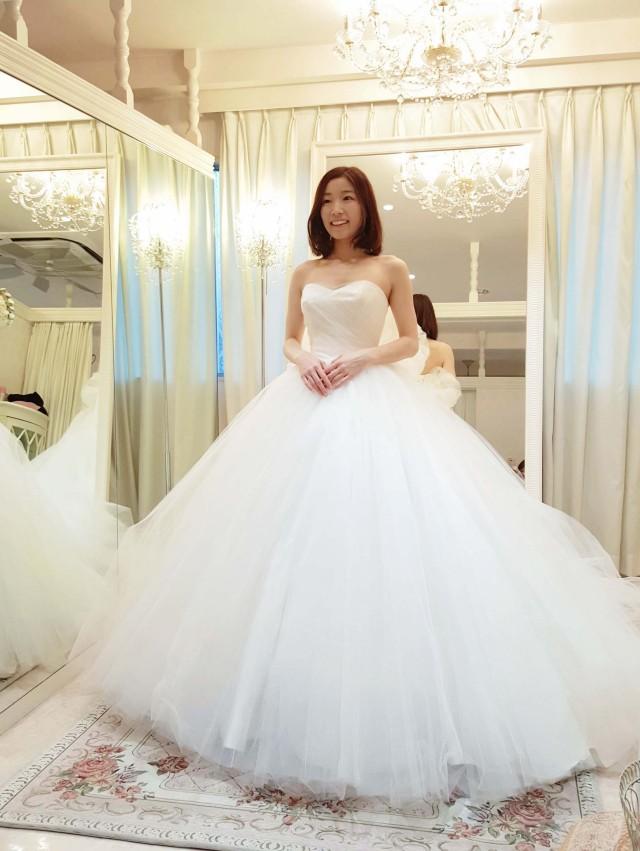 チュールのバレリーナ ウェディングドレス