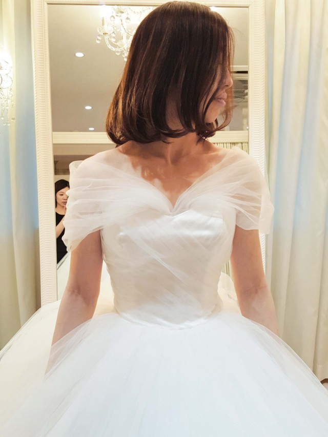 ウェディングドレス アレンジ小物 オフショルダー|ウエディングドレス レンタル 販売 オーダー |ウェディングドレスショップシンデレラ