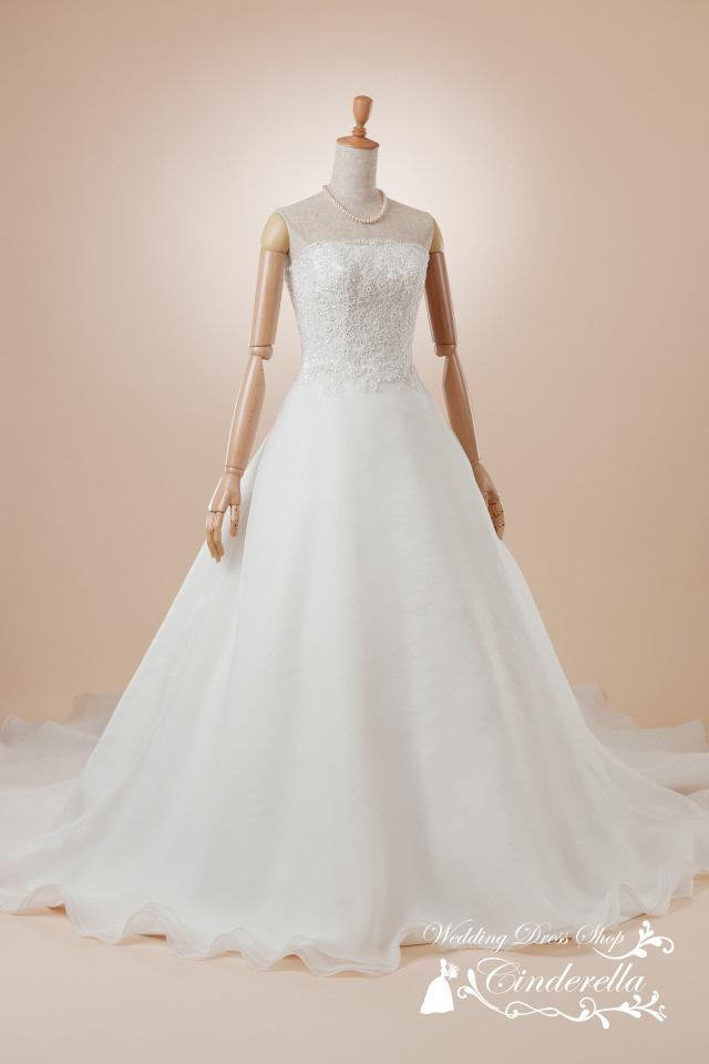 最新ウェディングドレス シンプル ノーブル