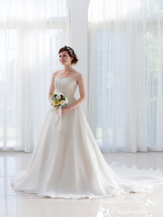 シンプル ウェディングドレス 販売 海外 リゾート ウェディング エアリー オーガンジー