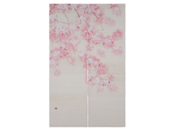 【洛柿庵】のれん「淡紅桜」