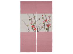 【洛柿庵】のれん「木瓜の花」