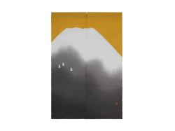 【洛柿庵】のれん「黄金富士」