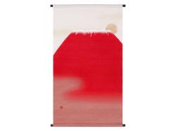 【洛柿庵】タペストリー「赤富士」