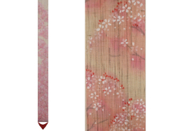 【洛柿庵】細タペストリー「桜並木」