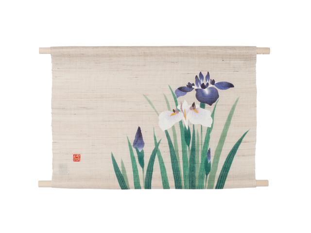 【洛柿庵】ミニ天軸タペストリー「菖蒲」