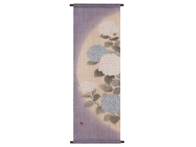 【洛柿庵】タペストリー「てまり紫陽花」