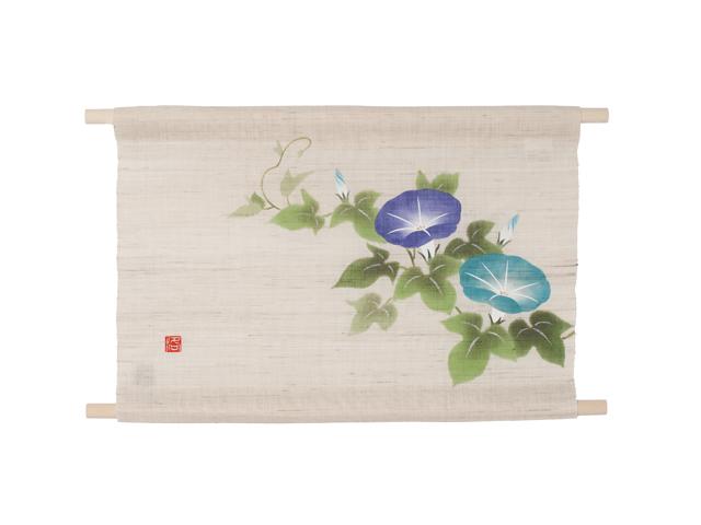 【洛柿庵】ミニ天軸タペストリー「朝顔」
