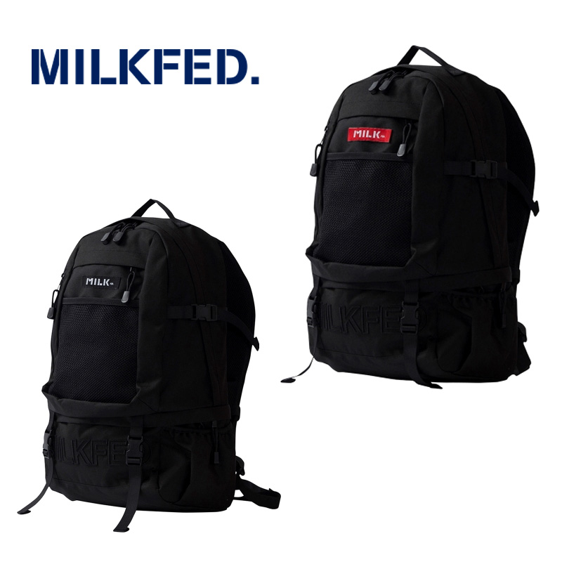 MILKFED.(ミルクフェド) EMBROIDERY BIG BACKPACK BAR 03173048 バックパック リュック レディース 【正規販売店】