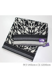 【正規取扱店】THE NORTH FACE  PURPLE  LABEL nananmica Wool Cotton Jaquard Blanket Large NN8659N  ヘリンボーン柄ブランケット ラージサイズ