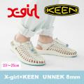【X-girl(エックスガール)×KEEN(キーン)】UNEEK 8mm 05171002 スニーカー ユニーク レディース サンダル