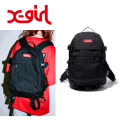 X-girl エックスガール MINI ADVENTURE BACKPACK 05181085 バックパック レインカバー付 レジャー 旅行 フェス 機能満載