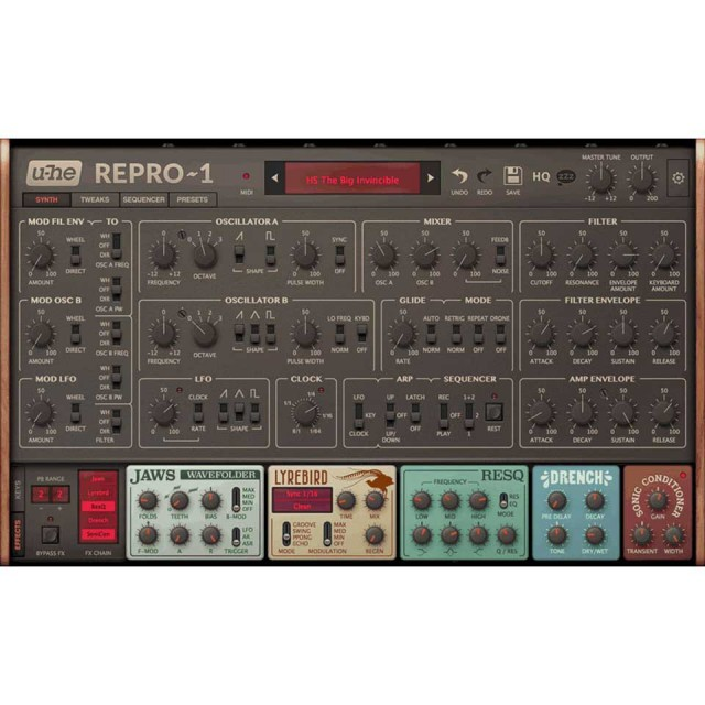 u-he/Repro-1【オンライン納品】
