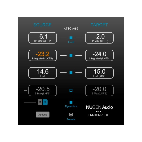 Nugen Audio/LM-Correct 2 Upgrade from LM-Correct【オンライン納品】