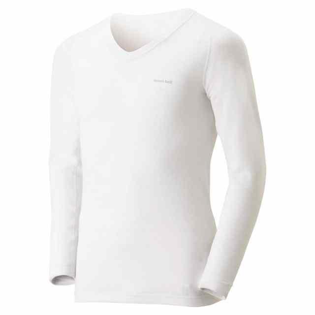 mont-bell(モンベル) ジオラインM.W. Vネックシャツ Men's ホワイト 1107554